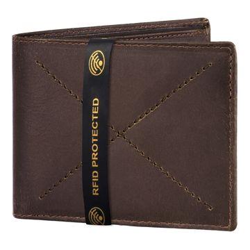 Walrus   Walrus Elite II Brown Premium Genuine Leather Men Wallet With RFID Protection.