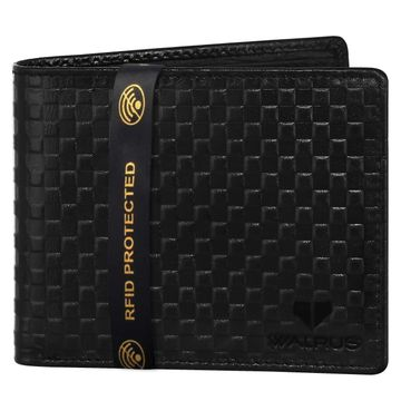 Walrus | Walrus Elite IV Black Premium Genuine Leather Men Wallet With RFID Protection.