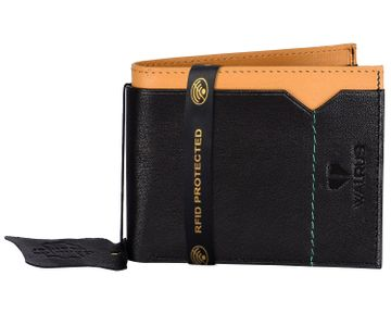 Walrus   Walrus Imperial Black Vegan Leather Men Wallet With RFID Protection.