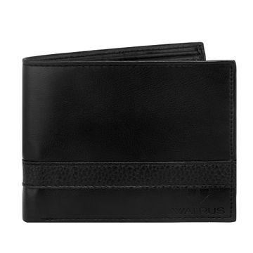 Walrus | Walrus Lavy Black Vegan Leather Men Wallet.
