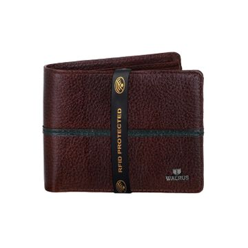 Walrus | Walrus Newton Brown Genuine Leather Men Wallet.