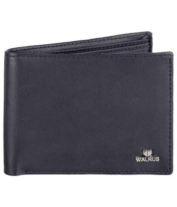 Walrus   Walrus Soft Black Vegan Leather Men Wallet.