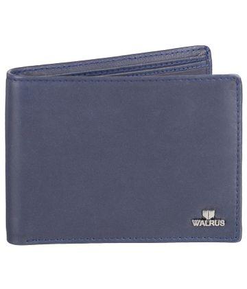 Walrus | Walrus Soft Blue Vegan Leather Men Wallet.