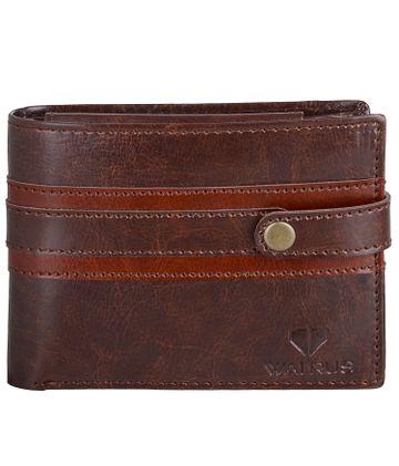Walrus | Walrus William Brown Vegan Leather Men Wallet.