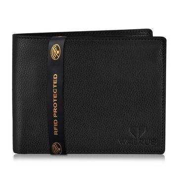 Walrus | Walrus Duke-V Black Vegan Leather Men Wallet With RFID Protection.