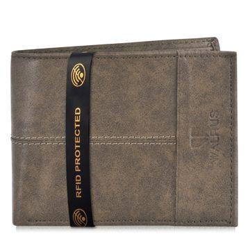 Walrus | Walrus Hyde-II Brown Vegan Leather Men Wallet With RFID Protection.