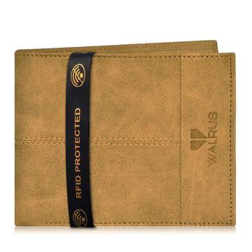 Walrus | Walrus Hyde-II Beige Vegan Leather Men Wallet With RFID Protection.