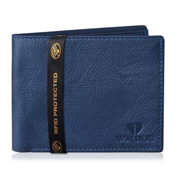 Walrus | Walrus Vet-II Blue Vagan Leather Men Wallet