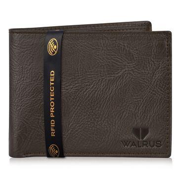Walrus | Walrus Vet-II Brown Vagan Leather Men Wallet