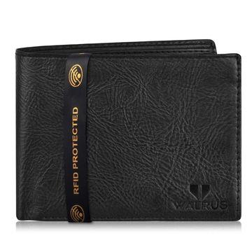 Walrus | Walrus Vet-III Black Vagan Leather Men Wallet
