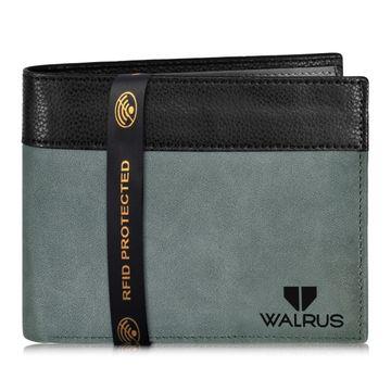 Walrus | Walrus Zeus Grey Vagan Leather Men Wallet