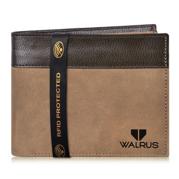 Walrus | Walrus Zeus Brown Vagan Leather Men Wallet