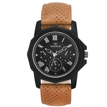 Walrus | Walrus Machino II Series Black Men Wristwatch With Artificial Chronograph Display