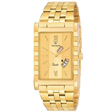 Walrus | Walrus Oliver IV Series Gold Dial Premium Men Wristwatch With Day & Date Function