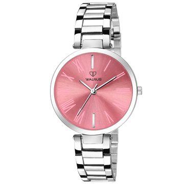 Walrus   Walrus Alice II Series Pink Dial Metallic Women Wristwatch