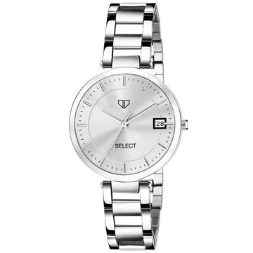 Walrus | Walrus A Series Silver Dial Women Wristwatch With Day & Date Function