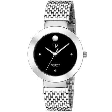 Walrus | Walrus D Series Black Dial Metallic Women Wristwatch