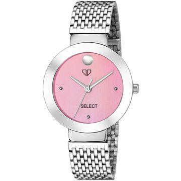 Walrus | Walrus D Series Pink Dial Metallic Women Wristwatch