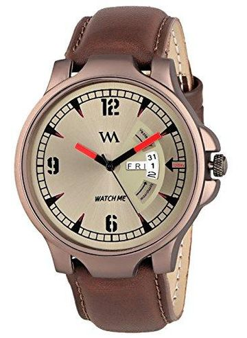 Watch Me | Watch Me Greywood Men Brown Analogue Watch GW-008-DDWM-018p1 Brown Onesize For Men