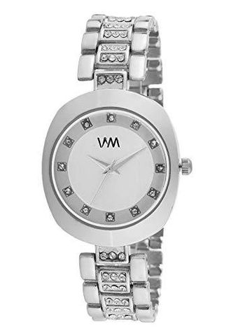 Watch Me | Watch Me Silver Dial Silver Stainless Steel Strap Watch  for Women and Girls For Women