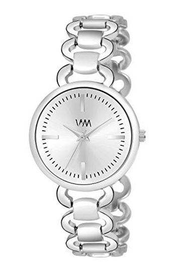 Watch Me | Watch Me Silver Stainless Steel Silver Dial Watch For Women with Free Sunglasses WMAL-368-wmg-002 For Women