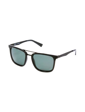 ENRICO | ENRICO Sunfire UV Protected & Polarized Wayfarer Sunglasses for Men ( Lens - Green | Frame - Black)