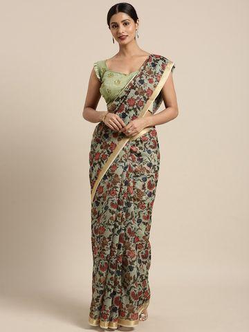 SATIMA   Satima Cotton Print & zari Saree