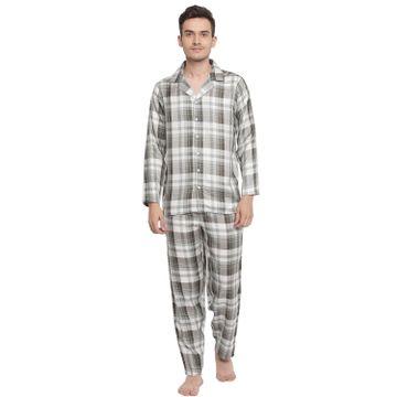 La Intimo   Notable check Pyjama Shirt set (Green)