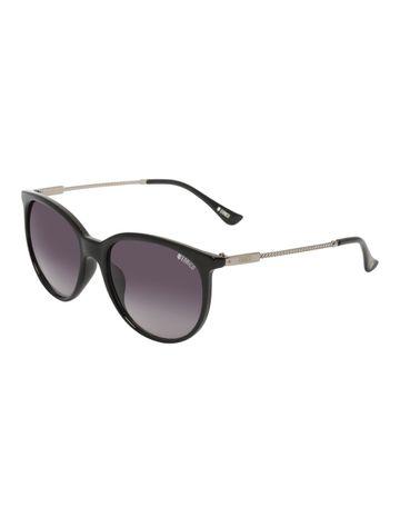 ENRICO | ENRICO Galaxy UV Protected Round Sunglasses for Women ( Lens - Purple | Frame - Black)