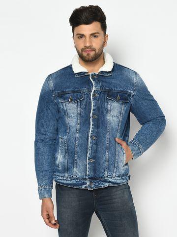 METTLE | Men Ice Blue Front Open Jackets