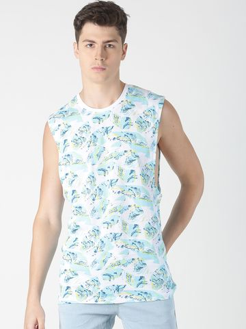 Blue Saint   Blue Saint Men's Printed White T-Shirt