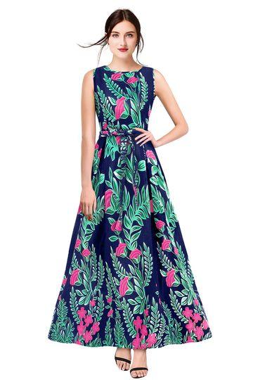 POONAM TEXTILE   Exclusive Designer Blue Floral Print Gown