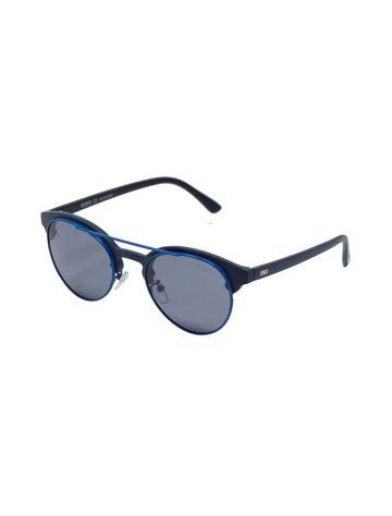 ENRICO | ENRICO Pompom UV Protected Round Unisex Sunglasses ( Lens - Blue | Frame - Black)