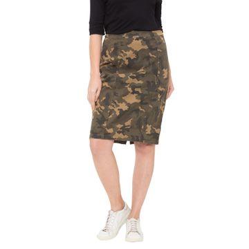 globus | Globus Olive Printed Skirt