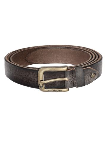 WildHorn | WildHorn Classic Leather Brown Belt for Men