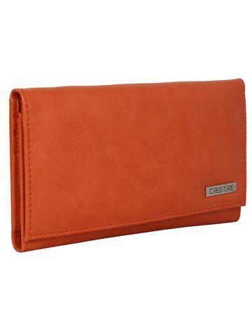 CREATURE | CREATURE Peach Stylish Genuine Leather Clutch for Women