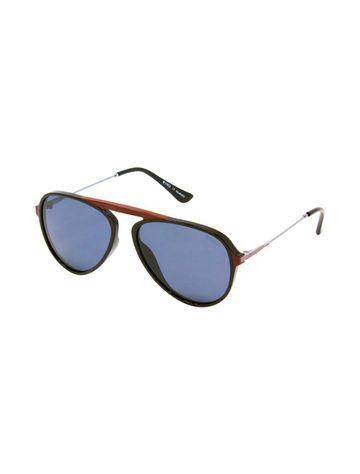 ENRICO | ENRICO Czar UV Protected & Polarized Aviator Unisex Sunglasses for Men  ( Lens - Blue | Frame - Red)