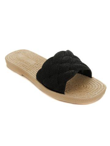 Trends & Trades | Trends & Trades Fancy Black Flats