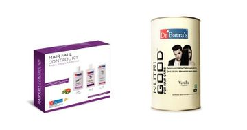 Dr Batra's | Dr Batra's Hair Fall Control Kit Thicker, Stronger & Fuller Hair - 525 ml and NutriGood For Hair Care