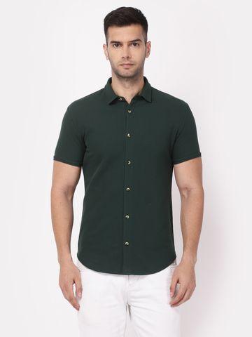 YOONOY | Men Short sleeve stretchable shirt