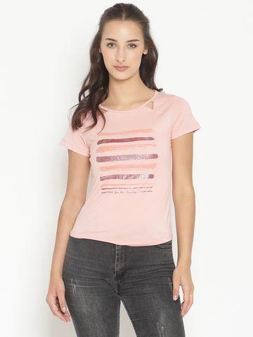 METTLE | Women DUSTY PINK T-Shirts