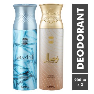 Ajmal | Avid Homme and Wisal Deodorant Spray - Pack of 2