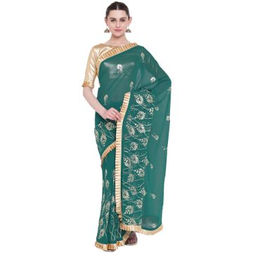 SATIMA | SatimaGeorgetteFoil Print Saree