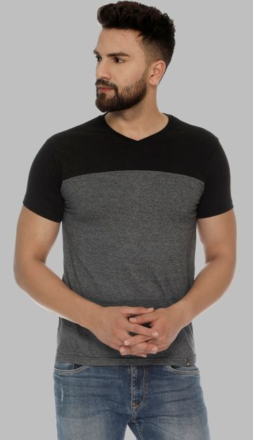 VEIRDO | Veirdo Black Solid Men T-shirt