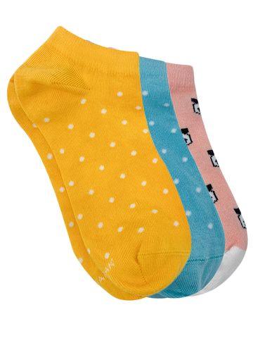 Mint & Oak | Mint & Oak Polka Design Pack of 3 Socks for Women