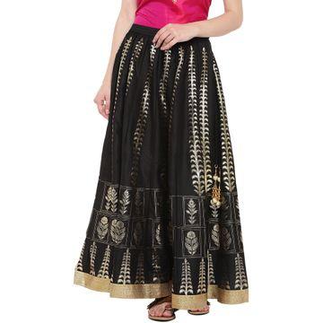 Ethnicity | Ethnicity Black Polyester Women Skirt