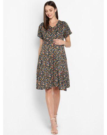 Mothercare   Momsoon women maternity half sleeve casual dress- Multicolor
