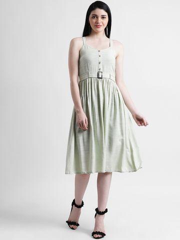 Zink London | Zink London Women's Green Sheath Dress