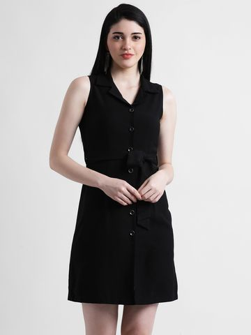 Zink London | Zink London Women's Black Solid Shirt Dress