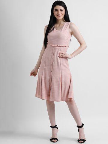 Zink London | Zink London Women's Pink Solid Sheath Dress